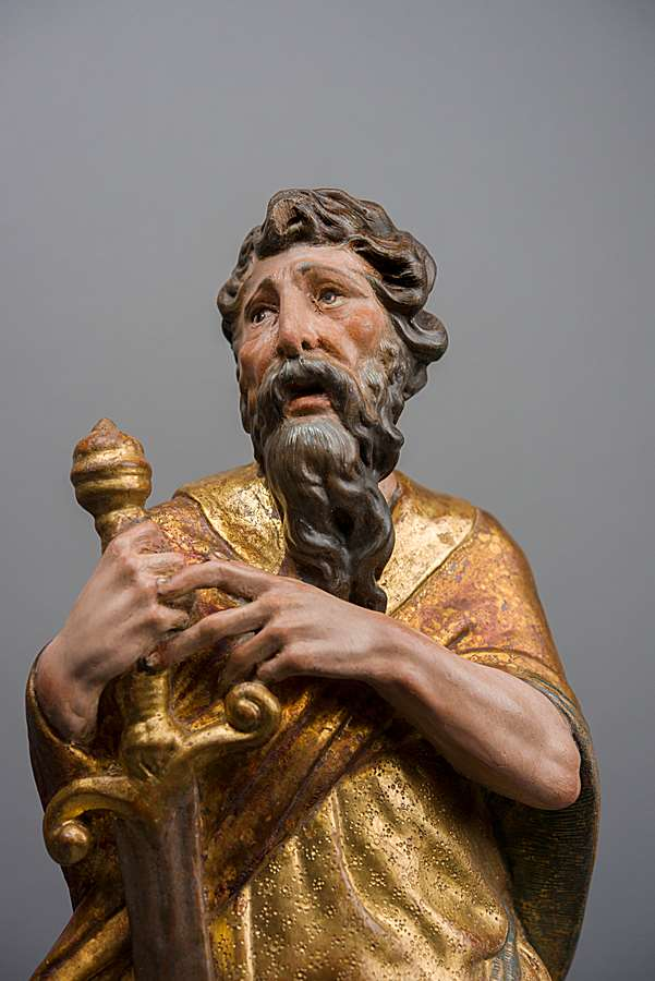 A pair of sculptures of Saint Peter and Saint Paul
