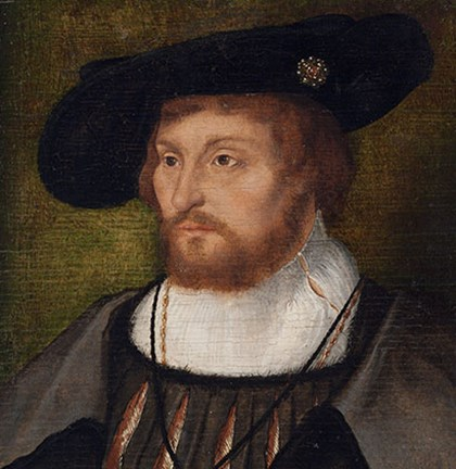 The newly discovered portrait of King Christian II shown in National Denmark Gallery.