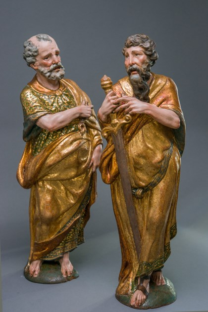 Saint Peter and Saint Paul by Alonso Berruguete at Tefaf New York Fall