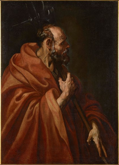 The St. Matthew by Tristán accompany the St Thomas by Velázquez in his public reappearance after restoration